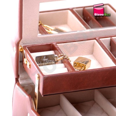 Boîte à bijoux cuir Davidt's Sellier 388686