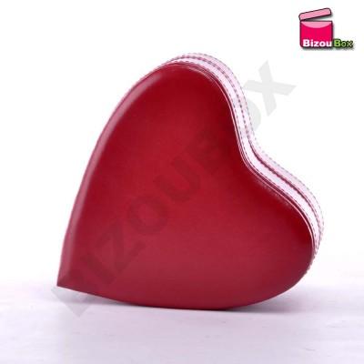 Boîte à bijoux cuir Coeur Davidt's 378 766