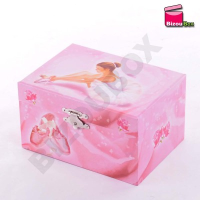 Coffret Musical Ballerine Rose