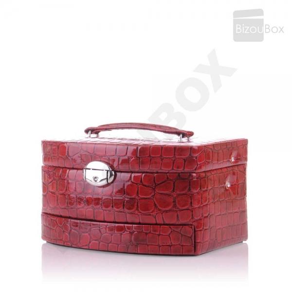 Croco Shiny 344965 Boite à bijoux Davidt's - Rouge