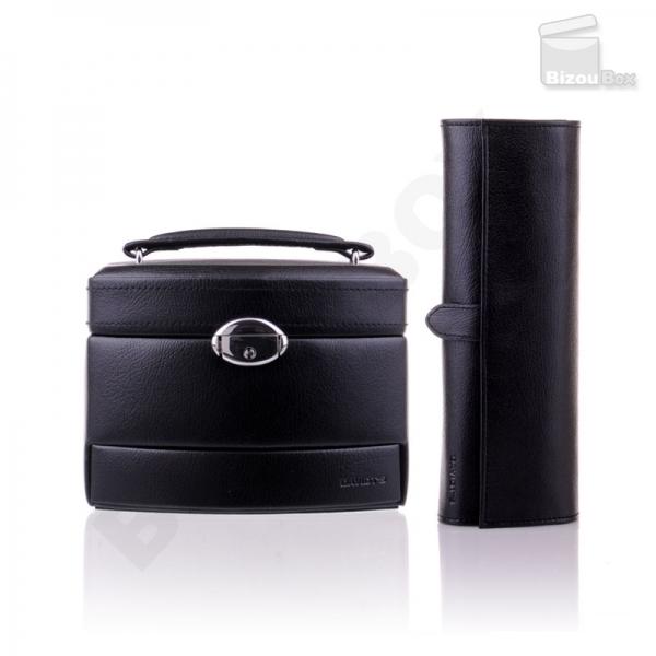 Pack boite et trousse à bijoux Davidt's 367959 / 367641 Noir