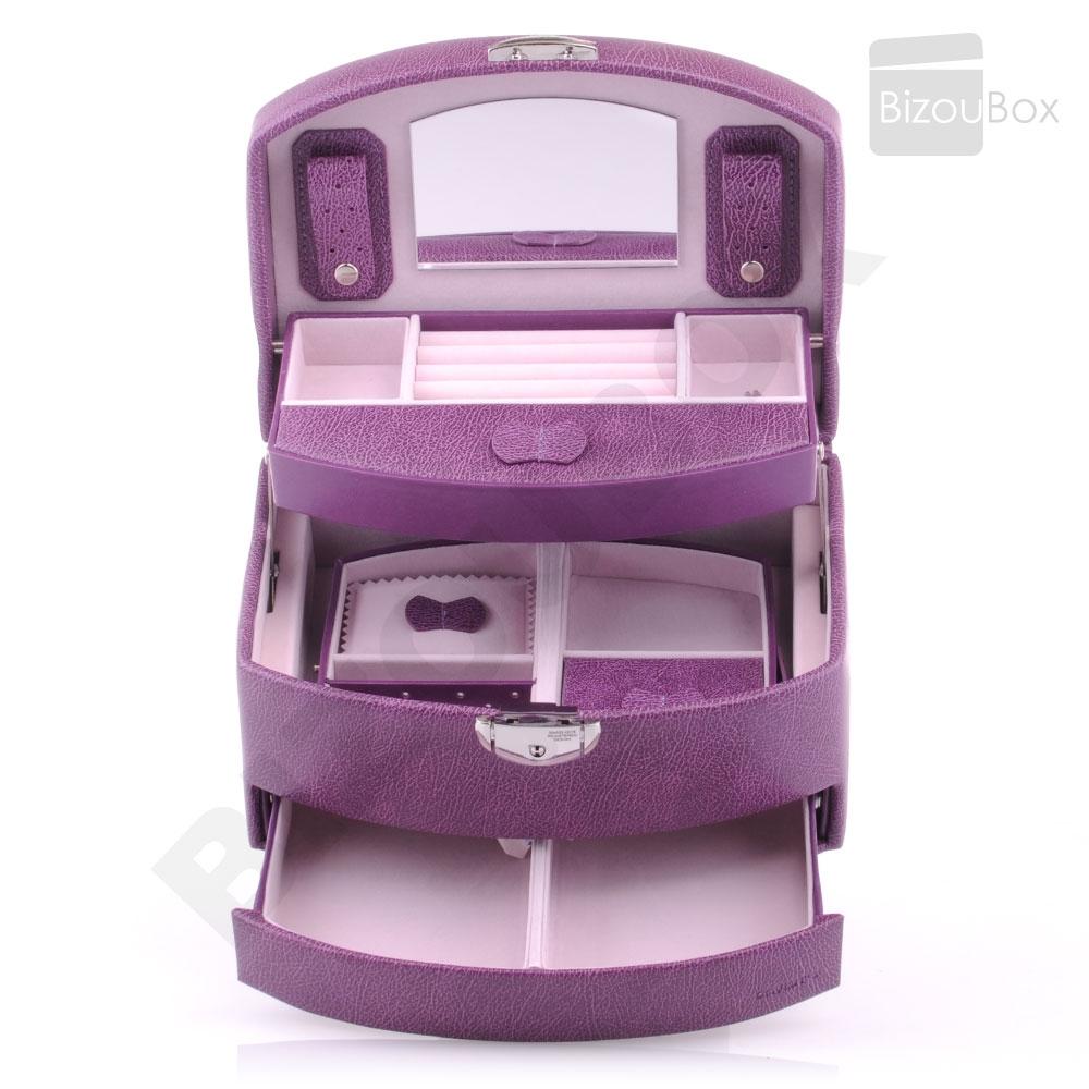 boite bijoux violet vente en ligne. Black Bedroom Furniture Sets. Home Design Ideas