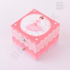 Boîte à musique Cube Trousselier - Ballerine Rose Foncé