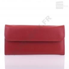 Trousse à bijoux en cuir David'ts B425154 Rouge