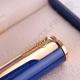 Stylo roller Waterman Apostrophe - pointe moyenne - bleu mabré