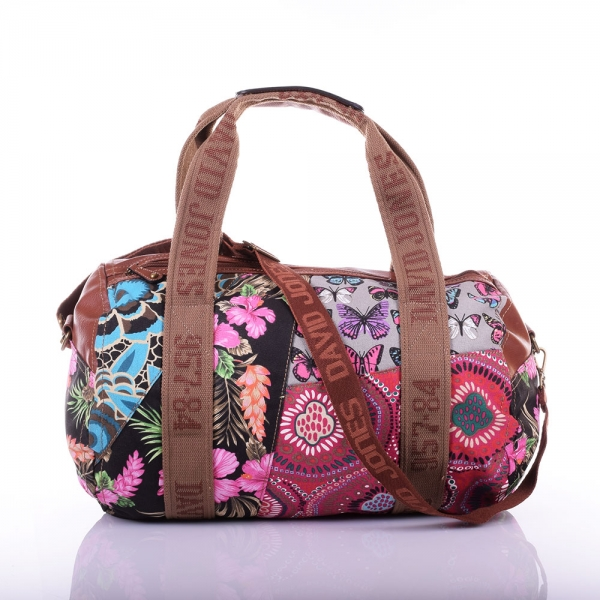 Sac polochon David Jones toile 3855-9