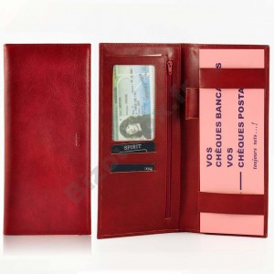 Porte chéquier Cuir Spirit 6502 rouge