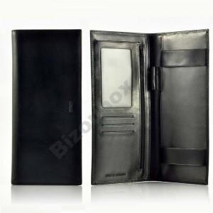 Porte chéquier Cuir Spirit 6502 noir