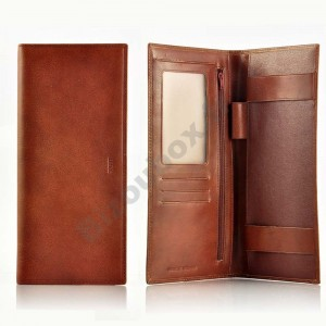 Porte chéquier Cuir Spirit 6502 marron