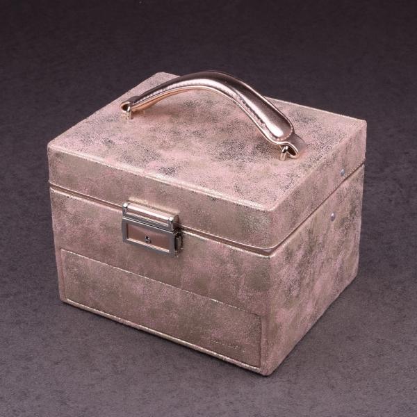 """Boîte à bijoux 338210 Davidt's """"Poussière d'étoile"""" Dorée/Rose"""
