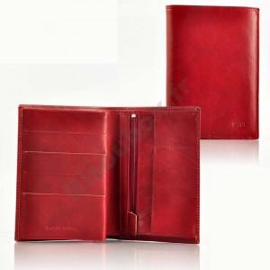 Portefeuille cuir Spirit 6881 rouge