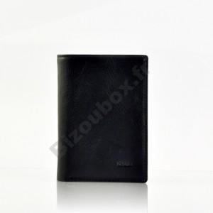 Portefeuille format carte d'identité - Noir