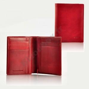 Portefeuille format carte d'identité - rouge