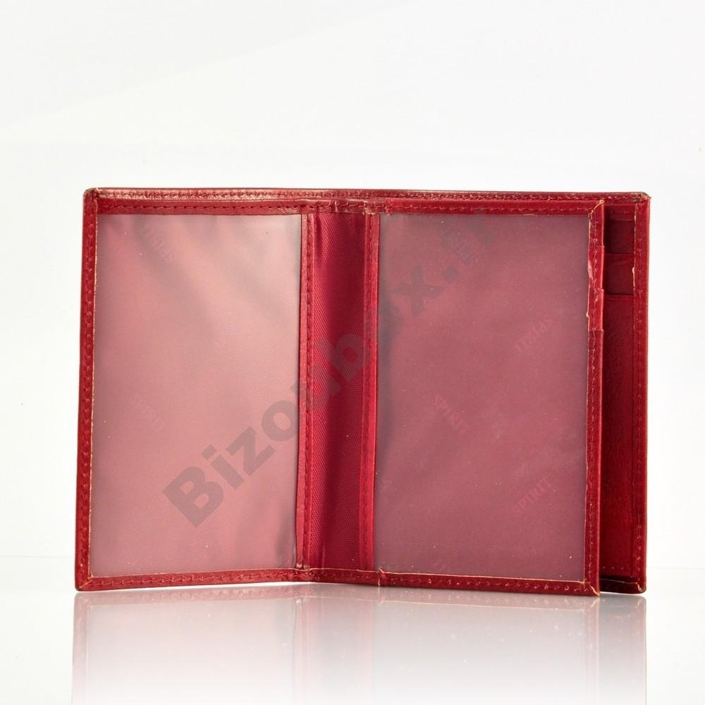 portefeuille cuir format carte d 39 identit rouge. Black Bedroom Furniture Sets. Home Design Ideas