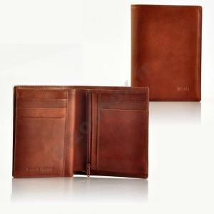 Portefeuille format carte d'identité - marron