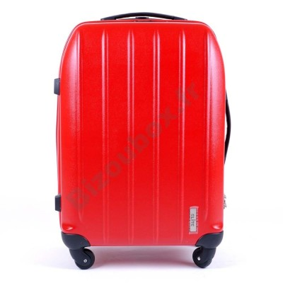 Valise elite trolley 65cm rouge