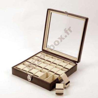 Coffret 18 montres cuir Davidt's Chrome 378818