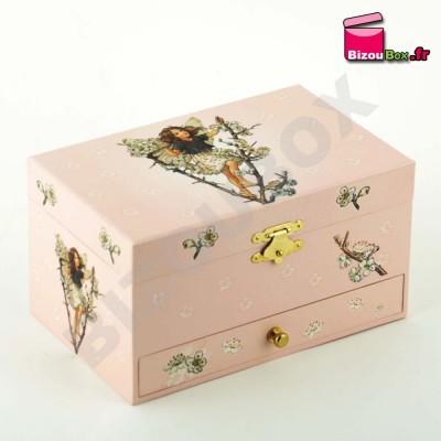 """Boîte musique Trousselier """"Fée papillons cerisier"""" S60614"""