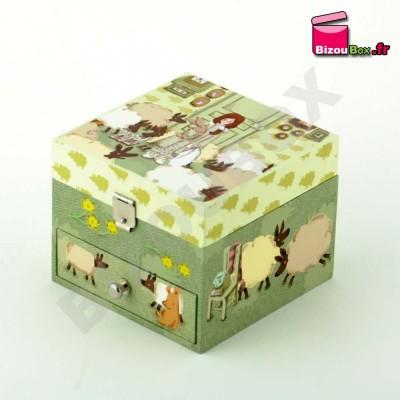 """Boîte musique Trousselier cube """"Mouton"""" S 20601"""