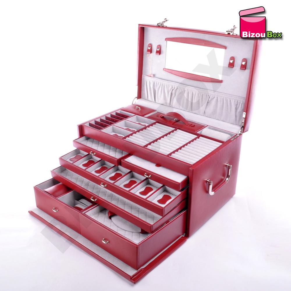 Grande boîte à bijoux cuir Davidt's 378 399